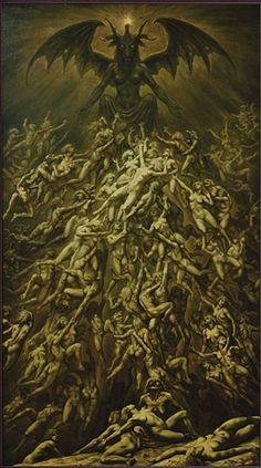 """""""El sacrificio de Cannunas"""". Arte de Johfra Bosschart, 1979. http://iglesiadesatan.com/"""