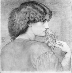 Dante Gabriel Rossetti sketch.