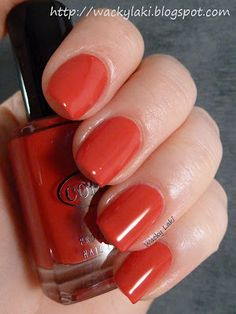Color Club - Cadillac Red. Perfect for Christmas together with China Glaze - Ruby Pumps.