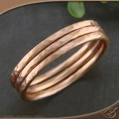 These rose gold stacking bands are such a perfect gift! GreenLakeJewelry.com