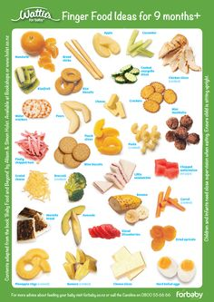 quick snapshot of snack ideas for baby