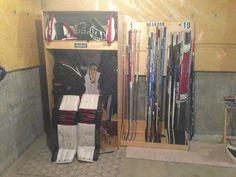 Garage on Pinterest   Hockey, Lockers and Sports Equipment Storage
