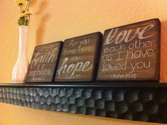 Scripture wood blocks