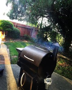 Quick lil back yard smoke for dinner  #traeger #mehungry Reposted Via @dcorrea707