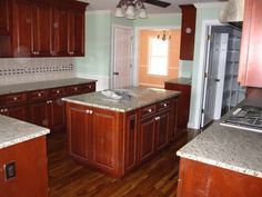 cherry cabinets wood floor - Google Search
