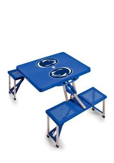 Picnic Time Blue Penn State Nittany Lions Portable Picnic Table