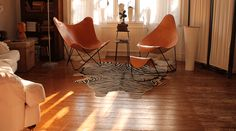 Cuero  Butterfly chair From Platane