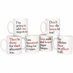 These Grammar Grumble Mugs Are Figuratively Perfect.