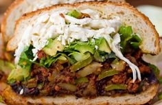 The signature sandwich of the Mexican state of Puebla, the Cemita is distinguished from its cousin the torta by a soft egg bun topped with…