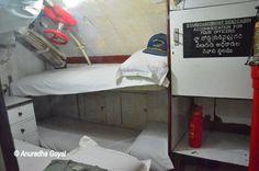 Sleeping provision for four officers inside the submarine, INS Kursura Submarine Museum