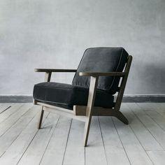 Dexter Armchair In Grey Velvet