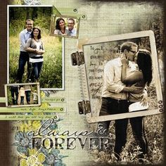 Always & Forever Love Page Scrapbook Project Idea from #CreativeMemories    http://www.creativememories.com