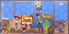 Woody from Toy Story layout
