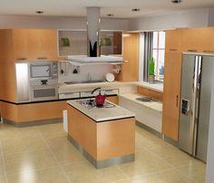 Ideas para Remodelar y Decorar por: t-remodela: Remodelaciones de Cocinas. Integrando la Cocina ala Sala - Comedor. Una manera de agrandar el espacio y lograr más iluminación