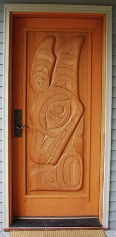Killerwhale Door Panel, located on Vashon Island, Washington.