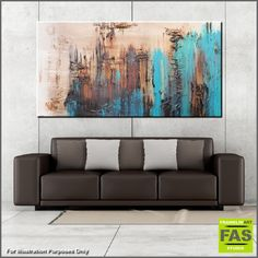 """Abstract paintings, Abstract Realism and Urban pop art """"in situ"""" displayed in spaces. Please feel free to visit my website, where you can purchase my current stock, or message me to discuss a commission (or say hello!)...... I love what I do, so please enjoy! Happy Trails Franko.......... Teal, Jade Turquiose abstract paintings"""