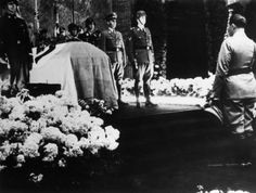 Reichsmarschall Hermann Göring at the memorial service for the deceased as a result of an assassination Reinhard Heydrich