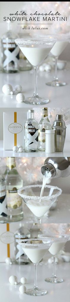 White Chocolate Snowflake Martini //