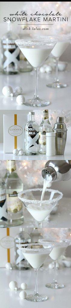 White Chocolate Snowflake Martini //
