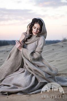 """Mittelalter Fantasie Kleid """"Die Pilgerin"""". Vorhanden in: sackleinen :: Armstreet"""