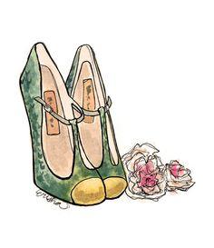 Image result for ballet flats artwork