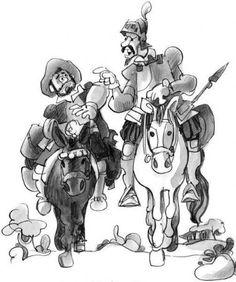 Ilustracion a acuarela de Don Quijote de la Mancha | El Quijote ...