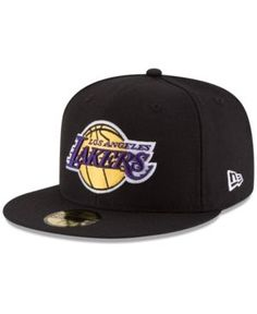 New Era Los Angeles Lakers Solid Team 59FIFTY Cap - Black 7 1 4 Gorras f27623fdbbe