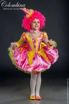 Купить Костюм клоунессы - розовый, клоунесса, костюм клоунессы, карнавальные костюмы, цирковые костюмы, атлас
