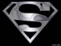black and silver superman symbol