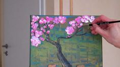 Tanja Bell How to Paint Cherry Blossom Tree Painting  Tutorial Lesson Te...