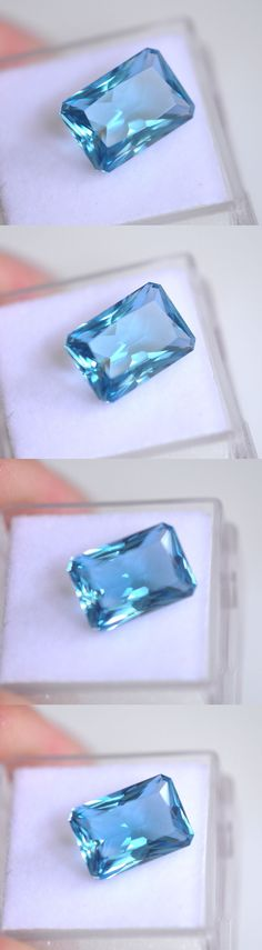 Topaz 10270: 5.22Ct. Emerald Cut Genuine (Natural) London Blue Topaz Loose Stone -> BUY IT NOW ONLY: $69 on eBay!