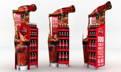 Coke 2015 point of sale pitch Stand Design, Pos Design, Retail Design, Pos Display, Display Design, Merchandising Displays, Store Displays, Simulation 3d, Exhibition Booth Design