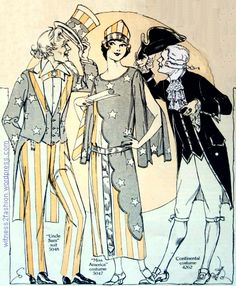 Uncle Sam, Miss America/Miss Liberty, and a Continental costume for a man…