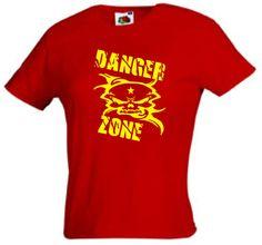 SEXY DANGER ZONE LADIES HOT FIT T-SHIRT! FOR BIKER, LOWRIDER... | eBay