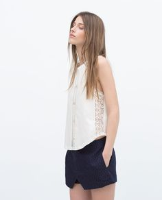 Image 2 of LACE TOP from Zara