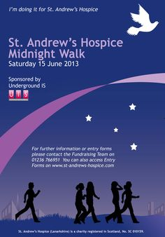 Ladies - sign up now for our annual midnight walk  www.st-andrews-hospice.com
