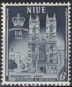 Stamp: Weastminster-Abbey_London (Niue) (Coronation from Queen Elisabeth II) Mi:NU 86,Sn:NU 105,Yt:NU 91