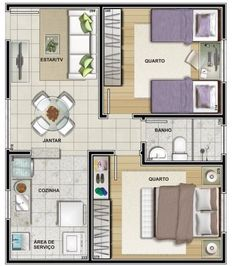 Apartment Layout 25 Ideas For 2019 Studio Apartment Floor Plans, Apartment Plans, House Layout Plans, House Layouts, Minimalist House Design, Minimalist Home, Plan Garage, 2 Bedroom House Plans, Small House Floor Plans