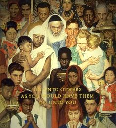 The Golden Rule - Norman Rockwell, 1961