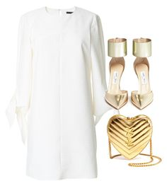 """""""Untitled #712"""" by hannehh ❤ liked on Polyvore featuring TIBI, Jimmy Choo and Yves Saint Laurent"""
