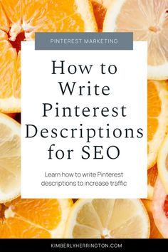 Learn how to improve your Pinterest SEO and pin descriptions with Pinterest marketing strategies. Pinterest Advertising, Pinterest Marketing, Advertising Ideas, Social Media Marketing, Marketing Strategies, Email Marketing, Content Marketing, Digital Marketing, Pinterest For Business