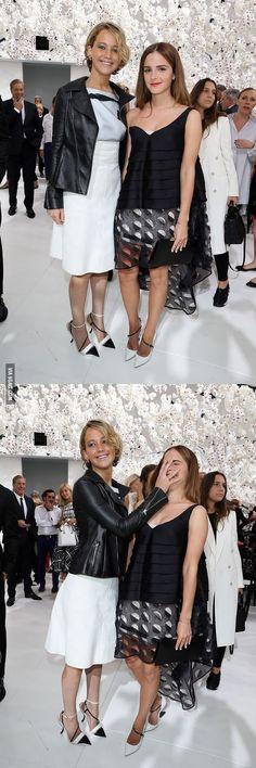 Jennifer Lawrence facepalms Emma Watson