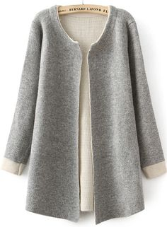 Shop Grey Long Sleeve Slim Knit Cardigan online. SheIn offers Grey Long Sleeve Slim Knit Cardigan & more to fit your fashionable needs.