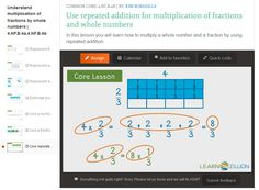 Number & Operations – Fractions – 4th Grade Build fractions from unit fractions. CCSS.Math.Content.4.NF.B.4 Apply and extend previous understandings of multiplication to multiply a fraction by a whole number. CCSS.Math.Content.4.NF.B.4.a Understand a fraction a/b as a multiple of 1/b. For...