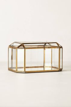 faceted brass jewelry box $32