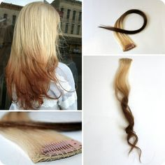 Ombre Hair two tone Haar Clip in Extensions