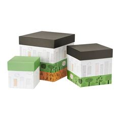 ÖNSKEDRÖM Boîte avec couvercle, lot de 3 IKEA