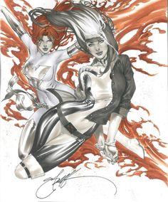 Phoenix and Rogue by Eric Basaldua *