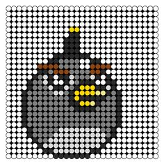 black angry bird perler bead pattern