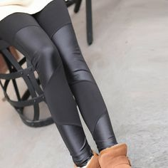 Leggings  Four leather stitching leather leggings nine points FREE SHIPPING <3 AliExpress Affiliate's Pin. Details on this item can be viewed on AliExpress website by clicking the VISIT button